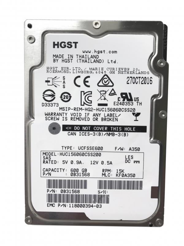 HGST 600GB 15K 12G SAS 2.5